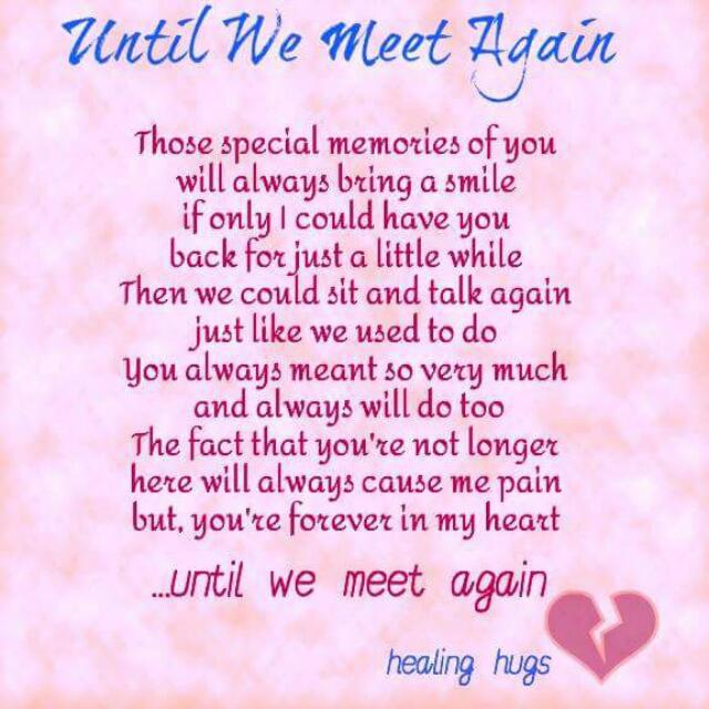 Just Wanted To Share A Poem I Really Liked Dedicated To My Gorgeous And Brave Sunshine Son Zain Until We Meet Again My Darling Xx Glow Community