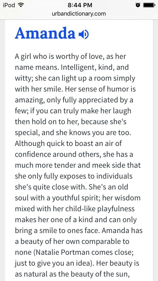 Amanda name meaning urban dictionary