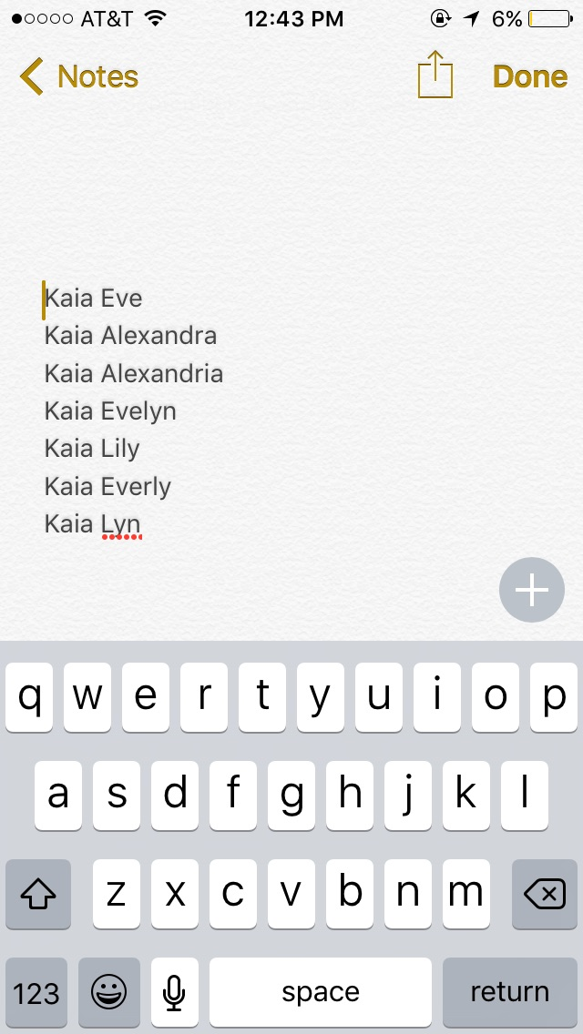These Are The Middle Names We Like But Literally Cannot Pick One Since Its A Short First And Last Name Not Sure If Goes Idk
