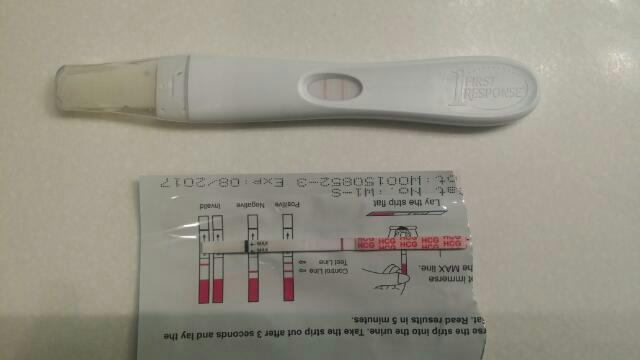 Mid Cycle Spotting Tests taken on CD 26 Top is opk bottom in bfn