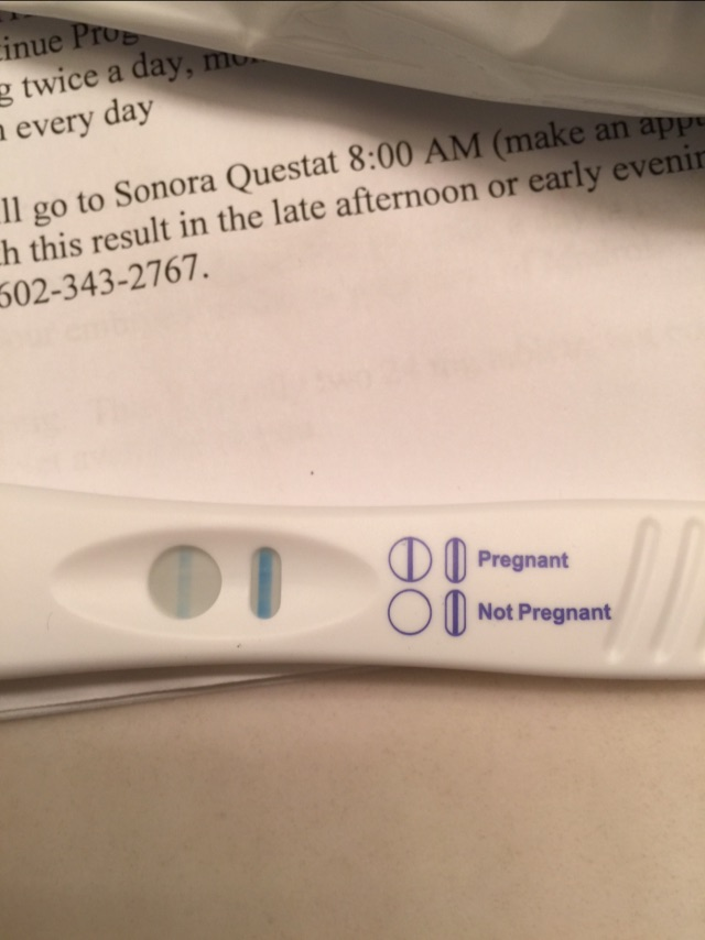 6 Days Post 5 Day Fet Pregnancy Test
