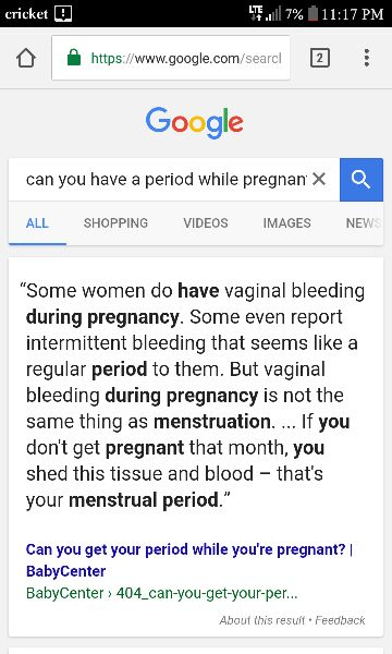 Is It Possible To Get Your Period While Pregnant