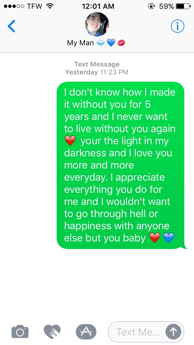 texts to send him