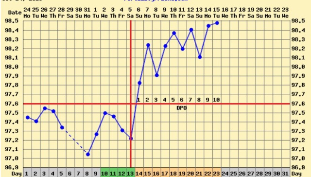 I Was Wondering If Anyone Got A Bfn At 10 Dpo Then Get Bfp Here Is My Chart So Far