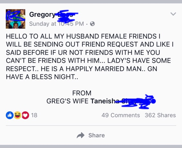 is it ok for husband to have female friends