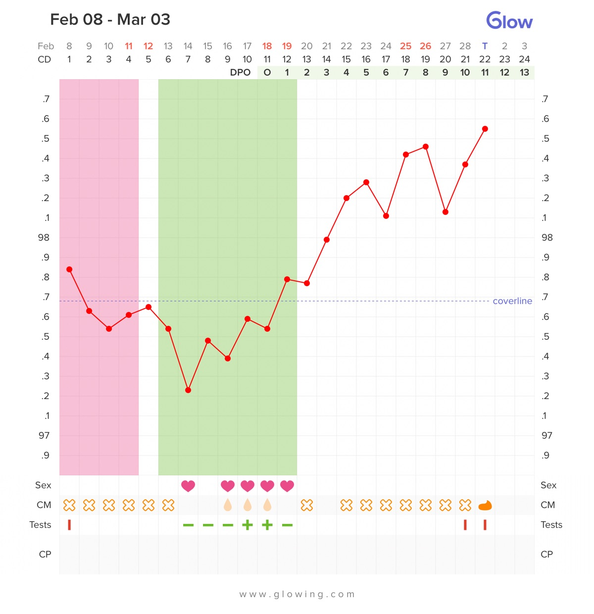 How does my chart look like? 11 DPO, no major symptoms