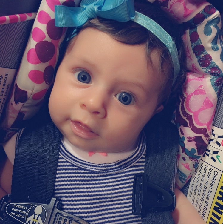So In Love With My Brown Haired Blue Eyed Baby Girl Glow