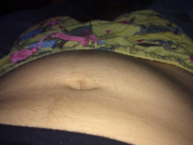 Hairy girls bellies with