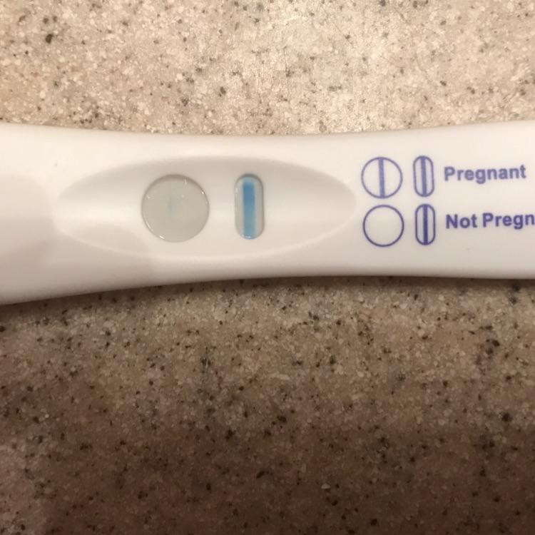 pregnancy test faint line after hours