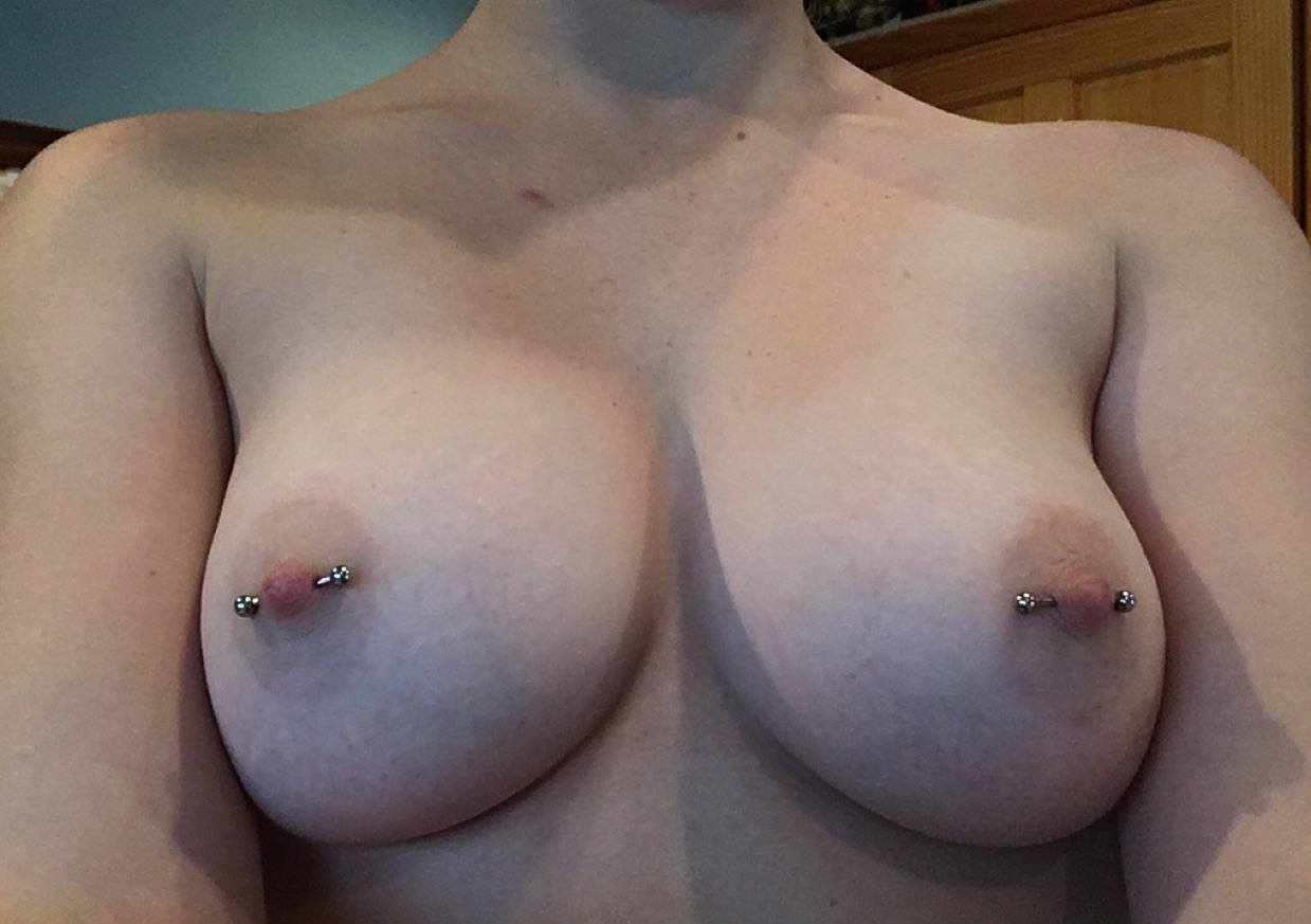Nadia jay has a pair of juicy tits with pierced nipples