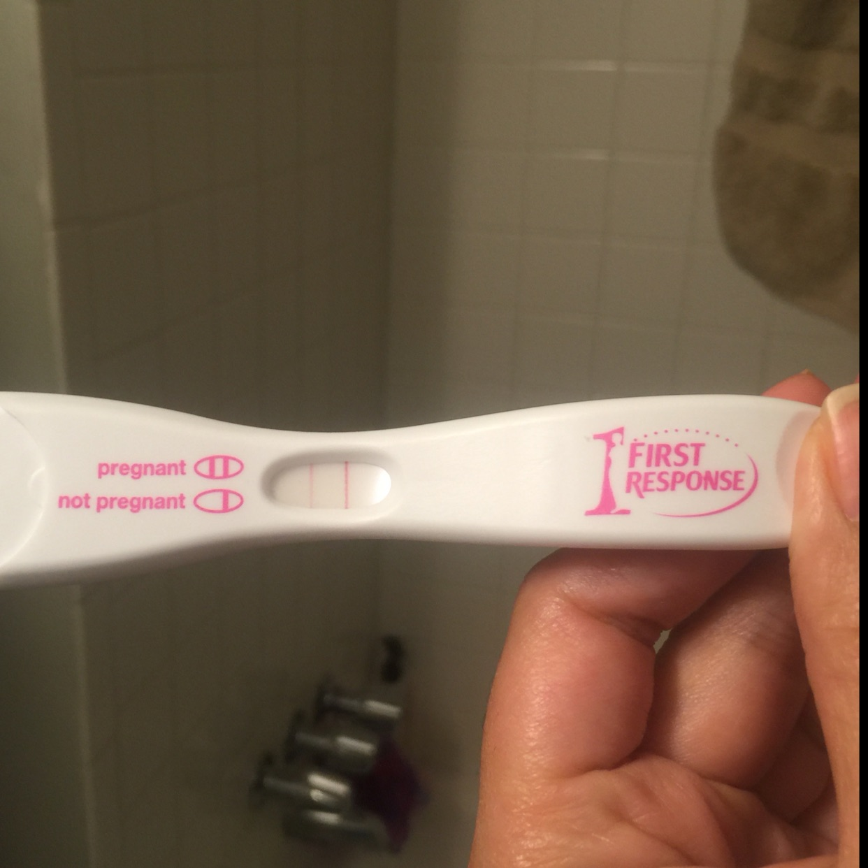 Period Is Late By 2 Days This Is The Test I Took On Day 1 Of Missed Period Using First Response Early Pregnancy Test Ran Out And Got Clear Blue Plus