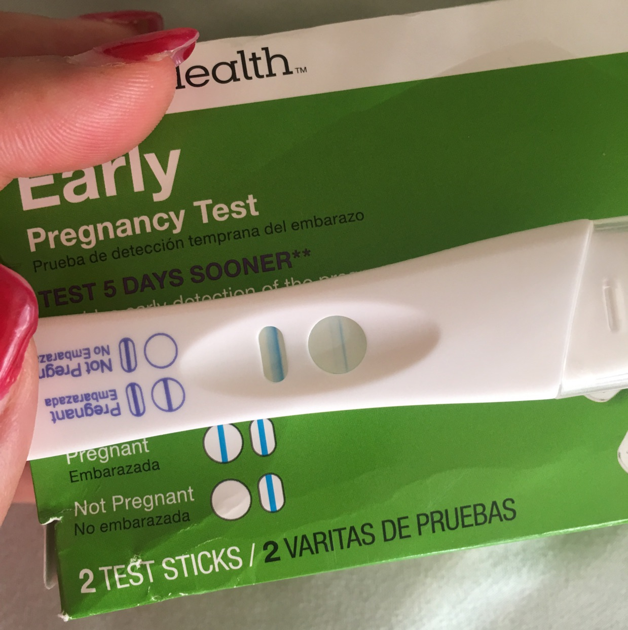 False Positive I Took A Cvs Early Detection Test Shows Up And Take First Response Says No Another Brand It