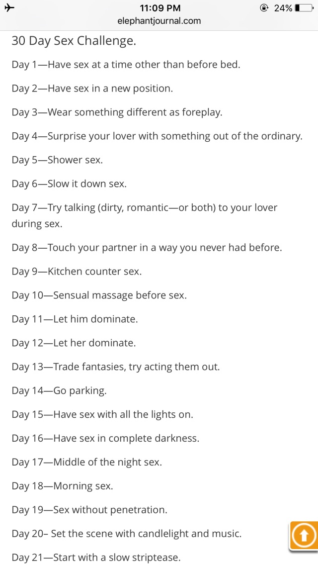 30 day sex challange