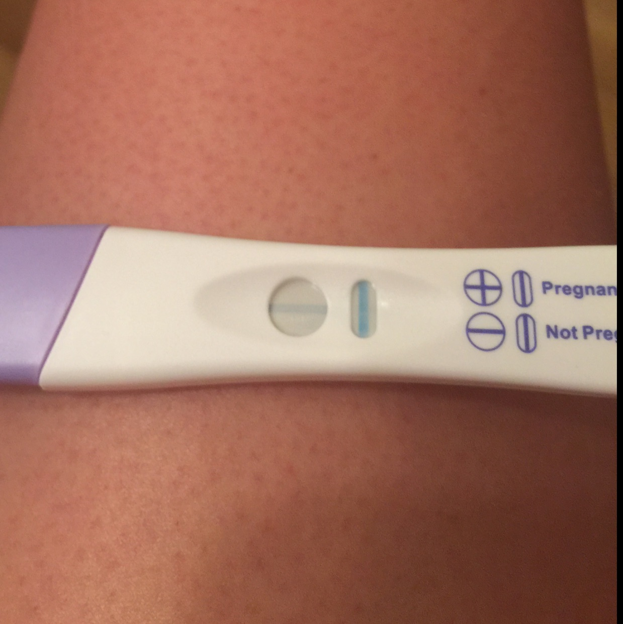 My test at around 9 dpo, my period is due in 6 days   I'm not sure