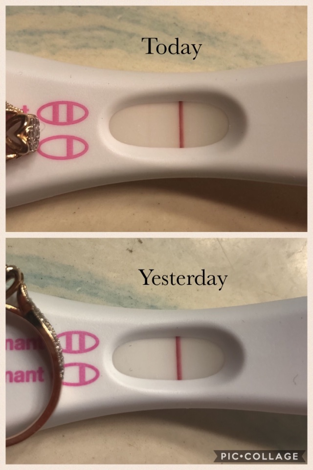 15 Dpo Today And Tests Are Getting Darker Still No Period Cramps Since The Day I Ovulated Had Spotting From 8 10 Dpo Any Chance It Was Too Early To