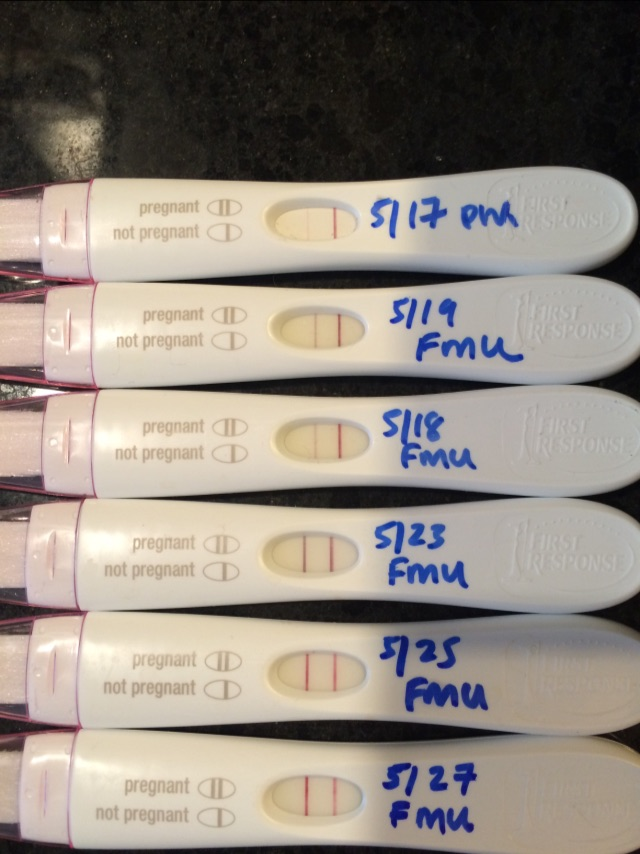 For Anyone Curious Progression Of Frer Test Lines Starting At