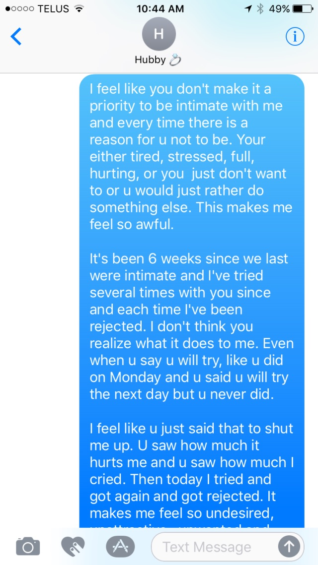 My boyfriend rejects me sexually