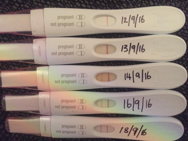 Progression Lines Immediately Following Miscarriage Glow