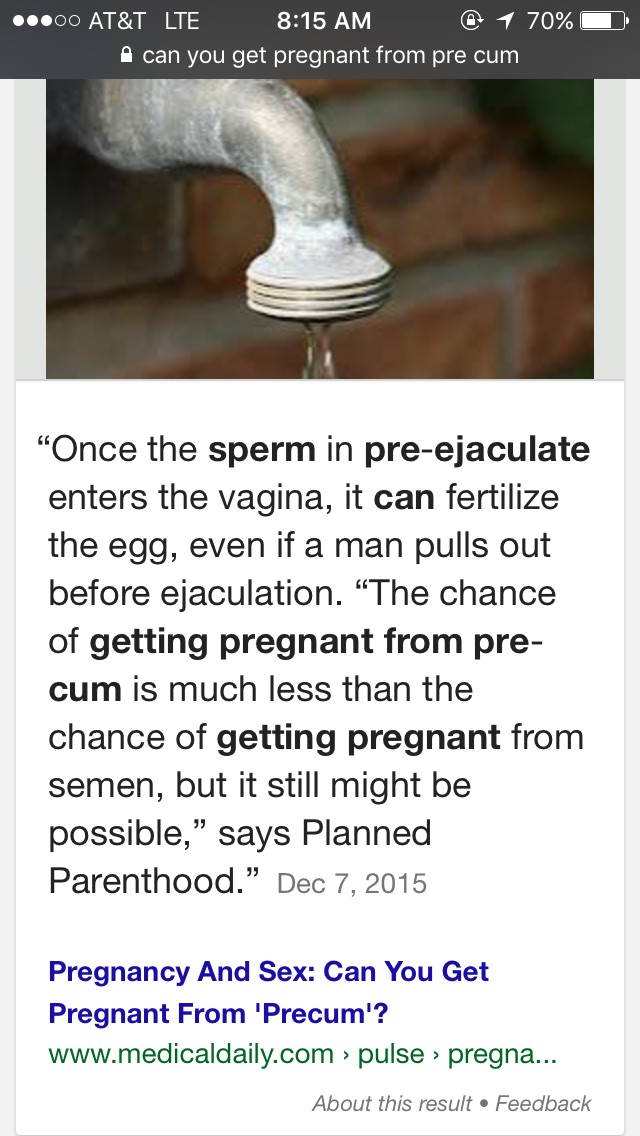Can A Women Get Pregnant From Pre Cum