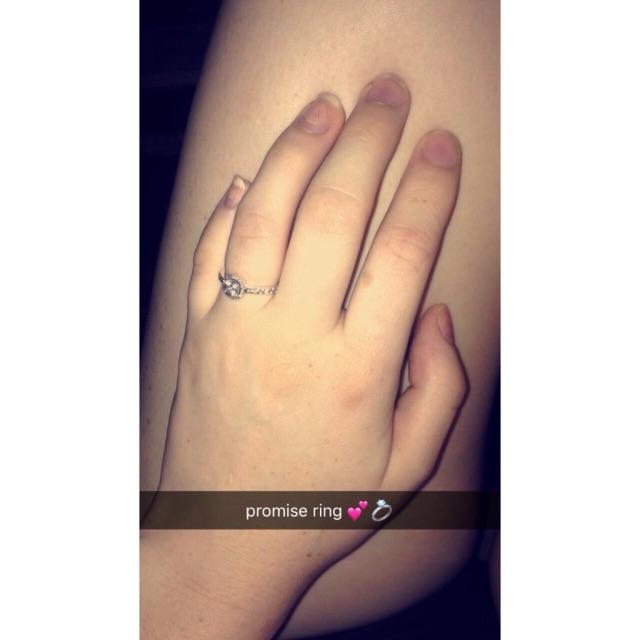 promise rings grape and silver gemstone titanium steel