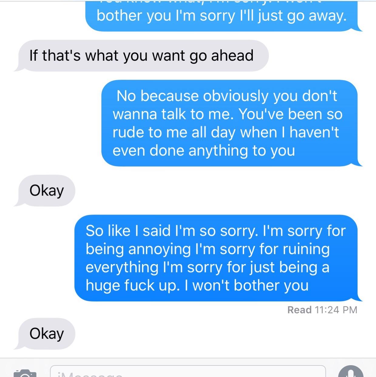 why do i feel like my boyfriend hates me