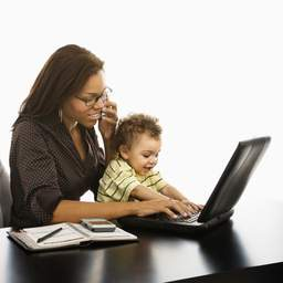 Work outside the home moms