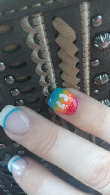 A Friend Of Mine Offered To Do Rainbow Baby Nails For Me. Itu0027s A Little  More Colorful And Bold Than I Normally Get, But For Itu0027s A Special Occasion  And I ...