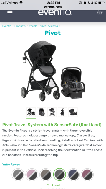 Opinions On The Evenflo Pivot 4 In 1 Travel System