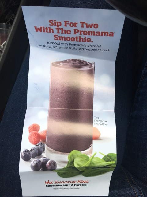 a018194de Smoothie King has a new smoothie called Premama and it is 👌🏼👌🏼👌🏼👌🏼  it was a prenatal powder mixed in and is full of nutrients! The info is  below.