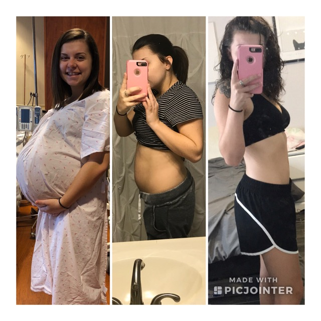 41 weeks pregnant vs 6 months postpartum! 💪🏼 - Glow Community