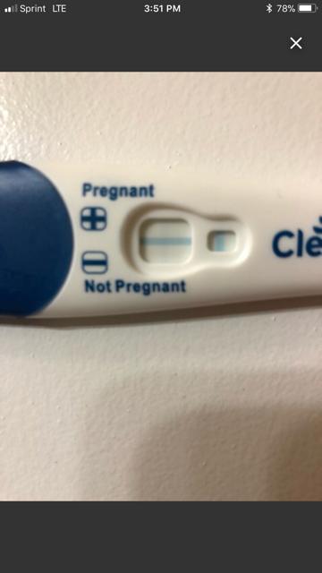 pregnancy test clear blue positive result