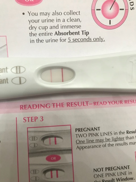 So I Have Been Spotting For About A Week Now A First Pink And Now Dark Red Spotting After I Was 3 4 Days Late I Took A Pregnancy Test Yesterday Got A