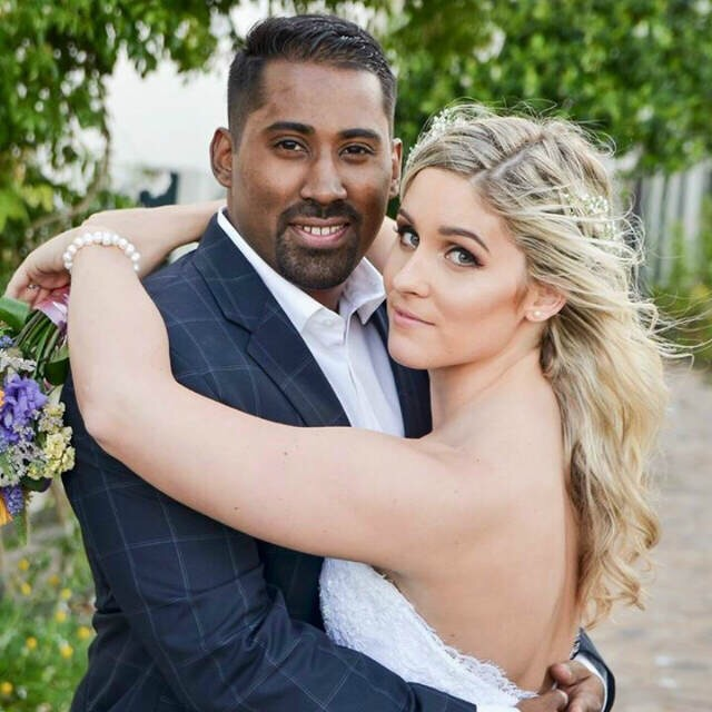 my hubby is half indian half mixed race and im white